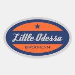 Little Odessa Oval Sticker