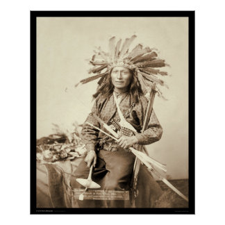 Little, Oglala Leader at Wounded Knee SD 1890 Print