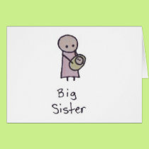 Little One big sister greeting card
