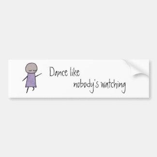Little One dance bumper sticker