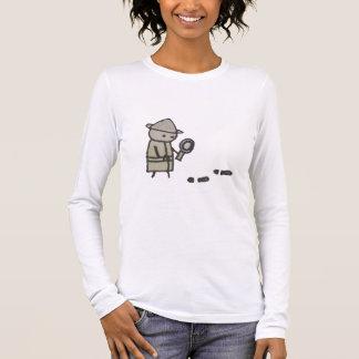 Little One detective womens long sleeve t-shirt