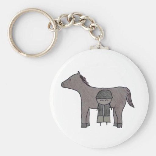 Little One equestrian keychain