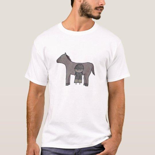 Little One equestrian womens organic t-shirt