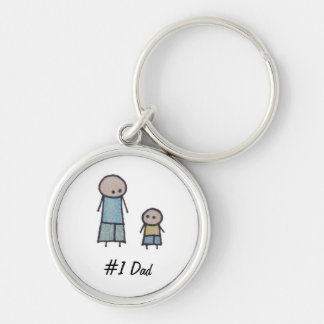 Little One Father's Day #1 dad keychain