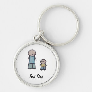 Little One Father's Day best dad keychain