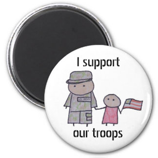 Little One military support magnet