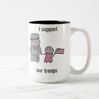 Little One military support two tone mug