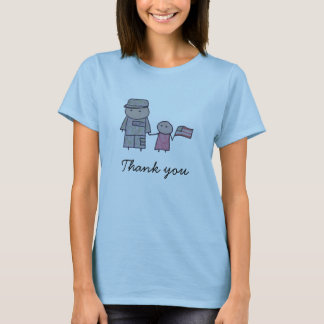 Little One military thank you womens t-shirt