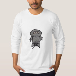 Little One ninja mens fitted long sleeve t-shirt