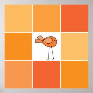 little orange bird poster