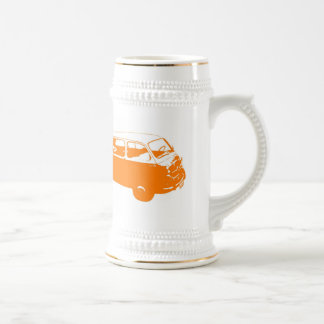 Little Orange Bus Beer Stein