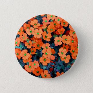 Little Orange Flowers Button
