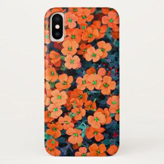 Little Orange Flowers iPhone X Case