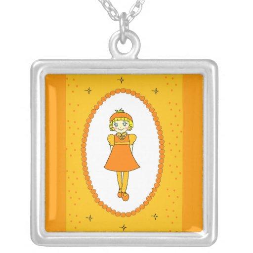 Little Orange Fruit Girl Jewelry