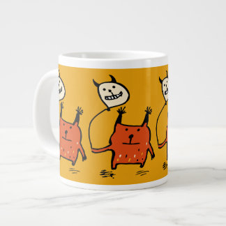 Little Orange Monster Mug (Extra Large) 20 Oz Large Ceramic Coffee Mug