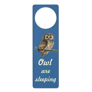 Little Owl - all are sleeping Door Hanger