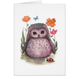 Little Owl and Ladybug Card