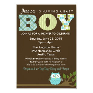 Owl baby boy shower invitations announcements zazzle little owl baby boy shower invitation pattern invitation filmwisefo