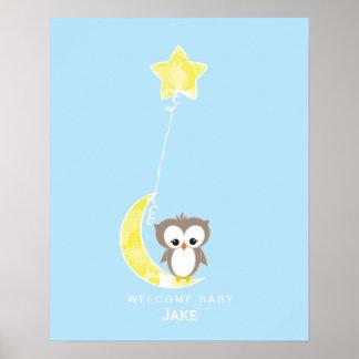 Little Owl | Baby Shower Guest Book Print