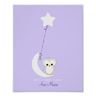 Little Owl | Baby Shower Guest Book Print