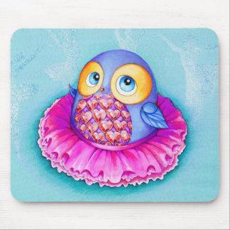 Little Owl Ballerina Mouse Pad