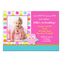 Little Owl Birthday Party Invitation