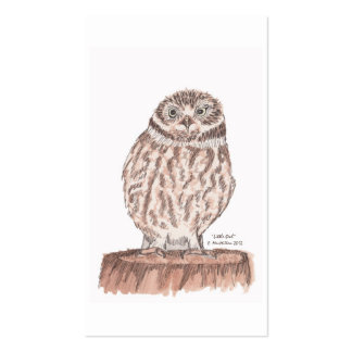 Little Owl Bookmark Business Card