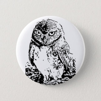 little owl button