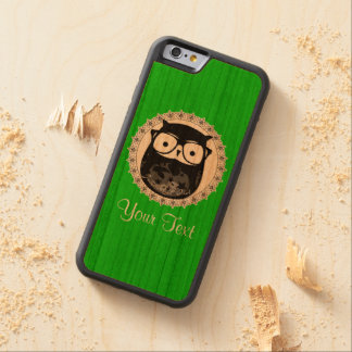 Little Owl Carved Cherry iPhone 6 Bumper Case