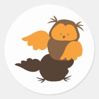 Little Owl cutie Showoff Classic Round Sticker
