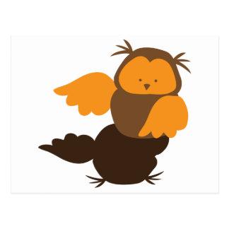 Little Owl cutie Showoff Postcard