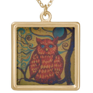Little Owl Gold Plated Necklace