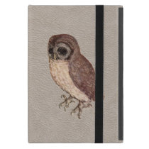 Little Owl iPad mini Case in Faux White Leather