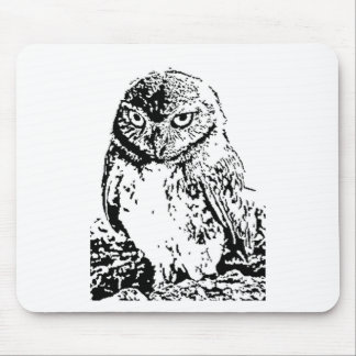 little owl mouse pad