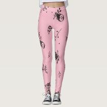 Little Owl Pink Pants Leggings