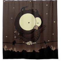 Little owl shower curtain
