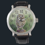 "Little owl watercolor wrist watch<br><div class=""desc"">stylish design for you!</div>"