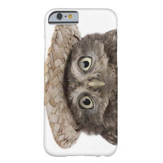 Little Owl wearing a straw hat - Athene noctua Barely There iPhone 6 Case