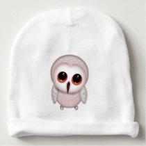 Little Owls Cute Owl Art Baby Beanie