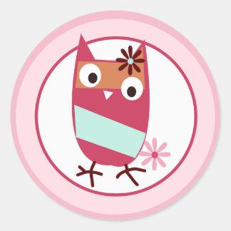 Little Owls Envelope Seals Classic Round Sticker