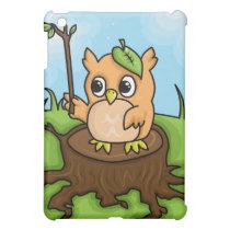 Little Owl's Math Lesson iPad Mini Cover