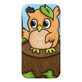 Little Owl's Math Lesson iPhone 4 Covers