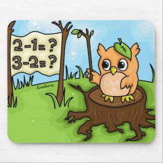Little Owl's Math Lesson Mouse Pad