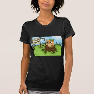 Little Owl's Math Lesson Tee Shirts