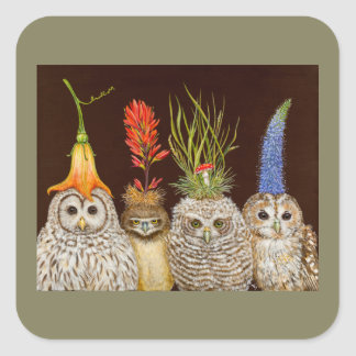 little owls on big hat night stickers