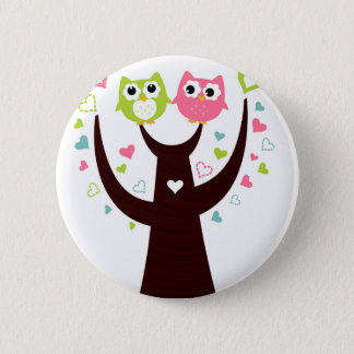 Little Owls on white tshirts Pinback Button
