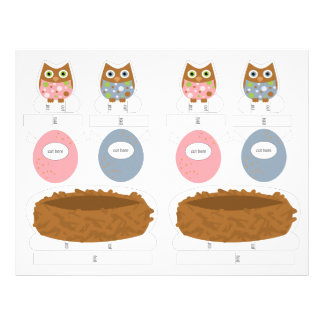 Little Owls Playset Personalized Letterhead