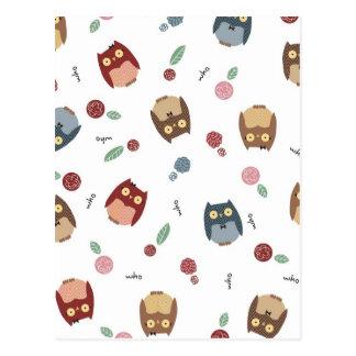 Little Owls Postcard