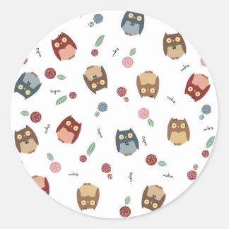 Little Owls Classic Round Sticker