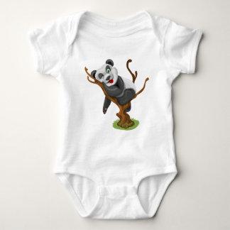 Little panda baby bodysuit